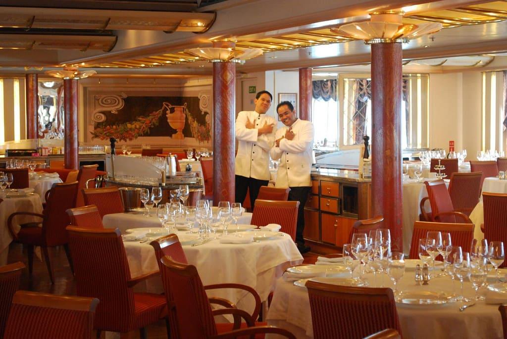 シルバーシーの新客船シルバー・ミューズには8つものレストラン