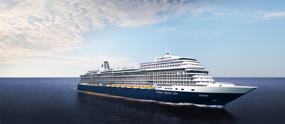ホーランド・アメリカ、最新客船をニュー・ラインダムと発表