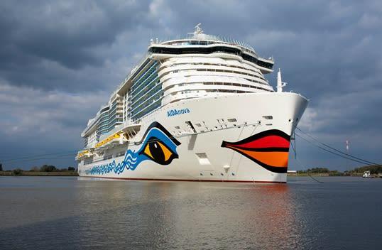 アイーダ最新客船、出火により受け渡しに遅れ