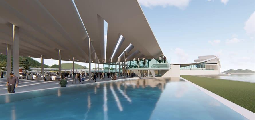カーニバルCPL初の日本のターミナル、浦頭ターミナルのデザイン公開