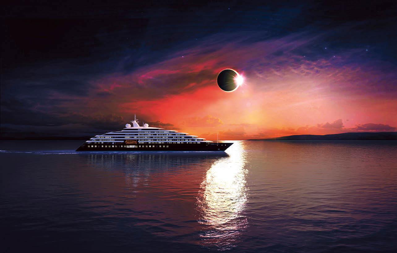 最新客船シーニック・エクリプス、ドライドックの様子を公開