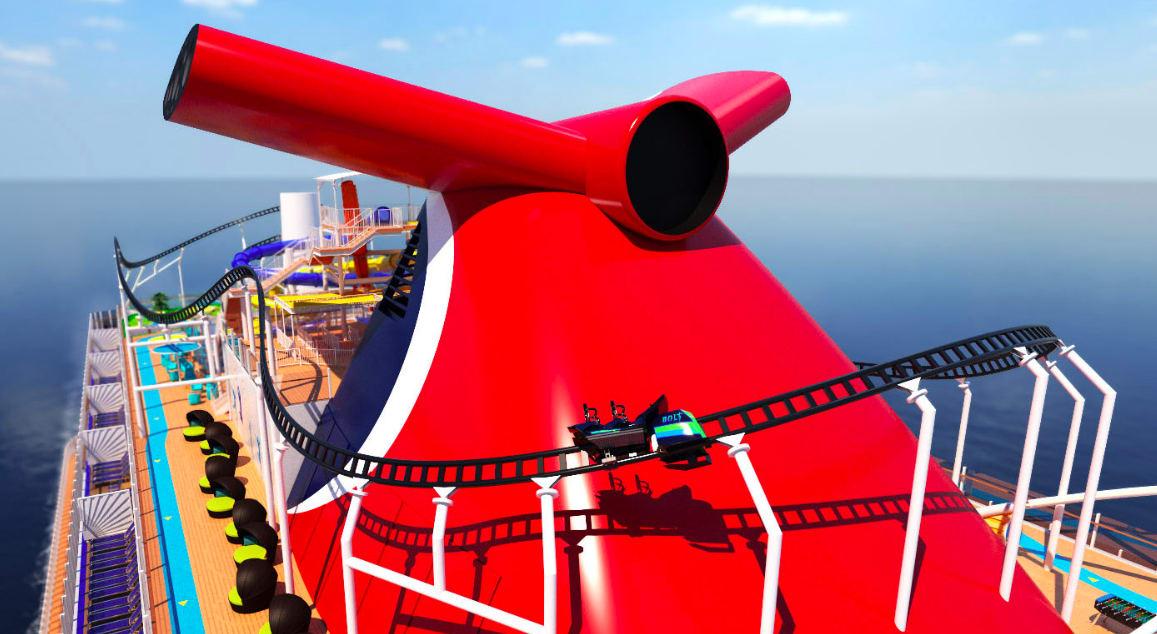 カーニバル、最新客船に船上初のローラー・コースターを設置
