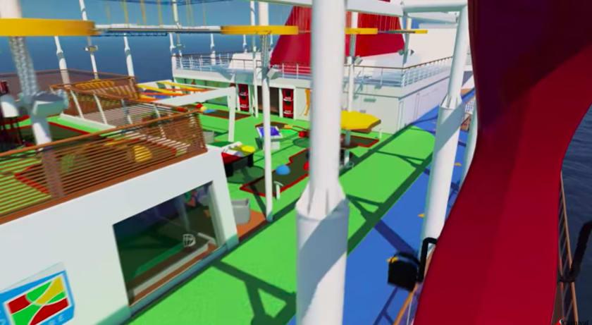 最新客船カーニバル・パノラマ、バーチャルツアー・ビデオ公開