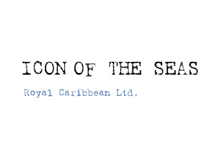 ロイヤル・カリビアンが次世代クラスの客船名「Icon of the Seas」を商標登録