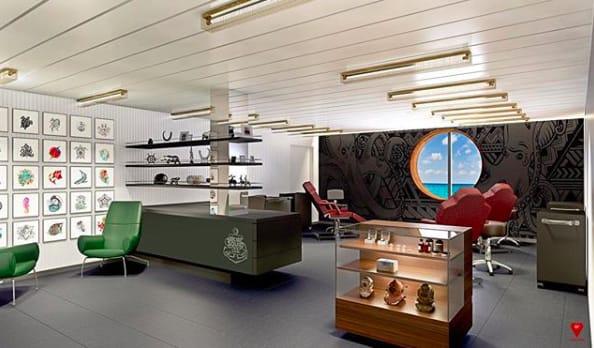 ヴァージン・ボヤージュ、最新客船にタトゥー・スタジオ