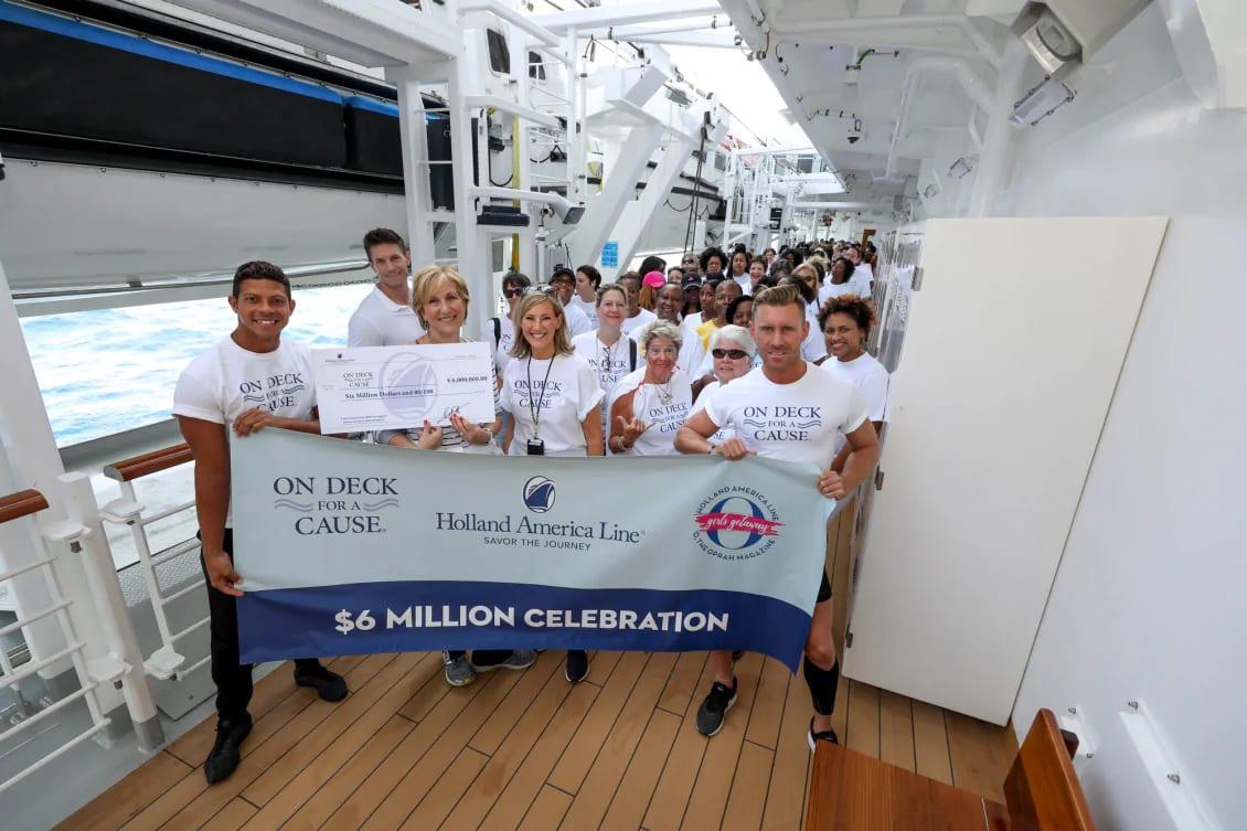 ホーランド・アメリカ、がん患者サポートのための寄付が6百万ドルを達成