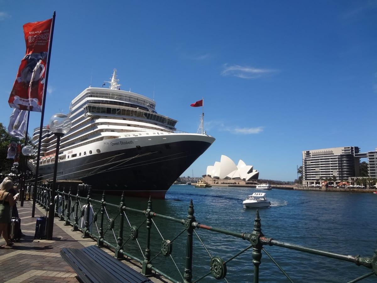 シドニー | シドニーでの客船クイーン・エリザベス