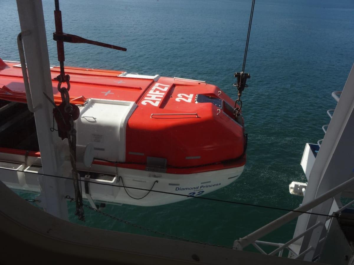 テンダーボートの点検!も見ることができました。