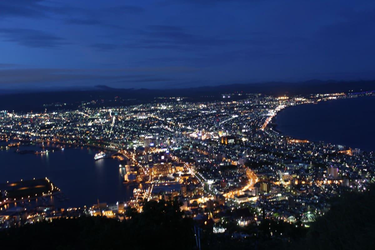 暗くなるまで待って撮った函館の夜景 | 函館