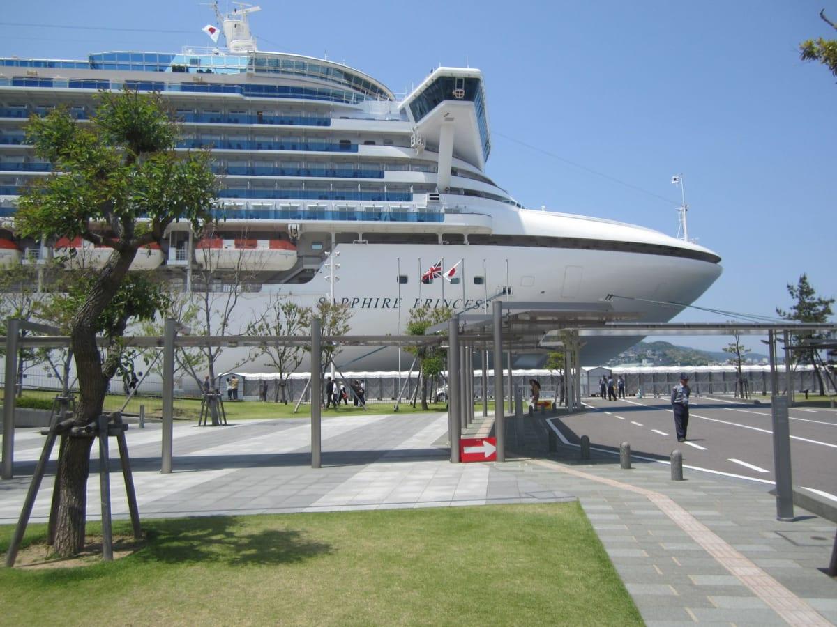 サファイアのお姿。 | 長崎での客船サファイア・プリンセス