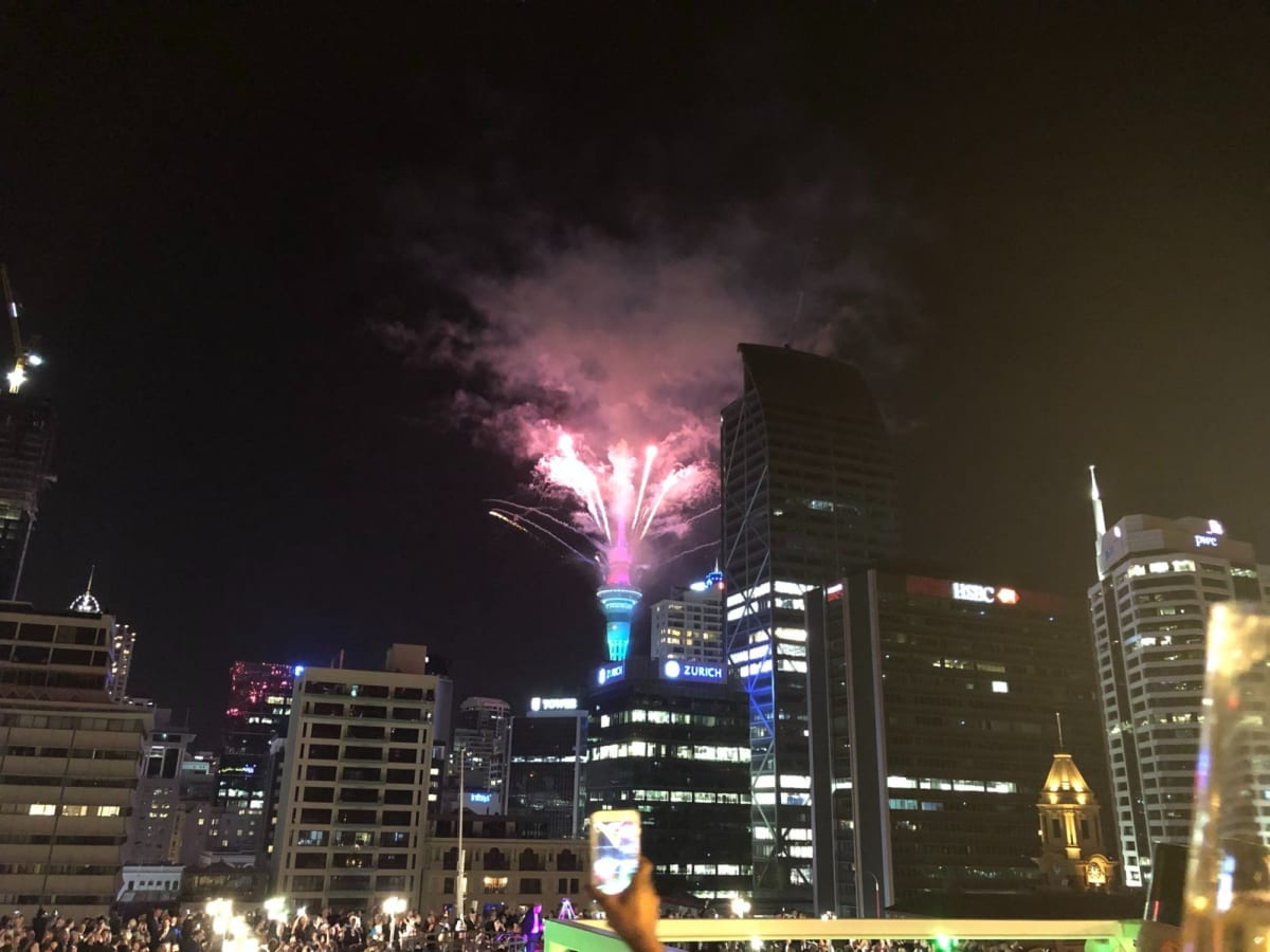 カウントダウンでタワーからの花火は最高でしたね😍  動画はもっと凄くて、アップ出来なかったのが残念😅