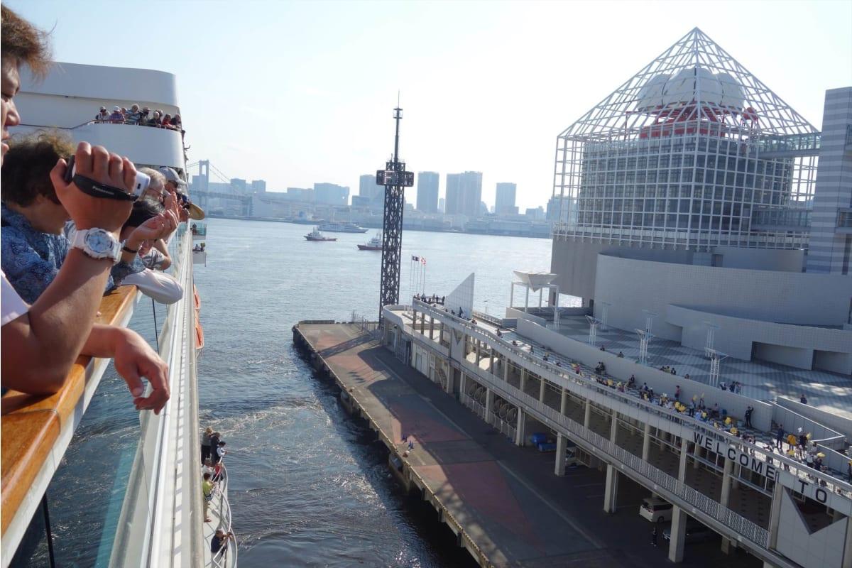 ちょうと私の誕生日の2019年5月11日に東京港で乗船、午後神戸向け出港した。 | 東京