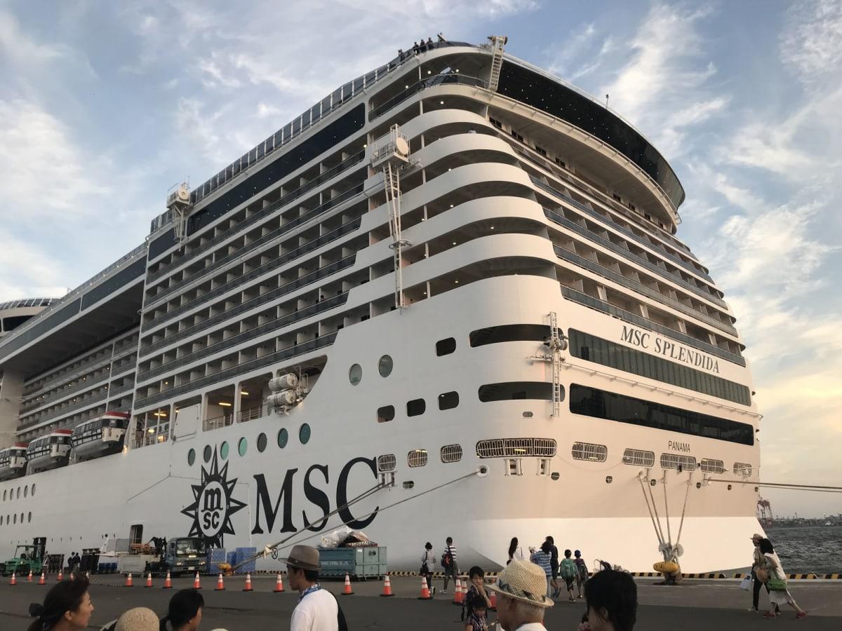 大黒ふ頭からスタート!   横浜での客船MSCスプレンディダ