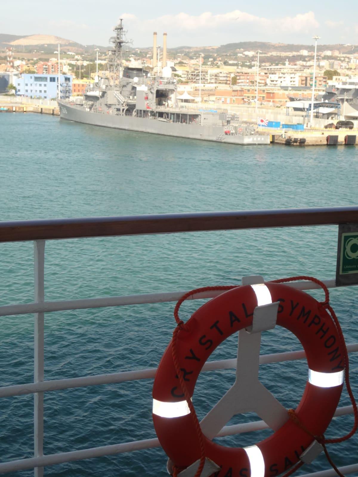 チビタベッキア(ローマ) 停泊中の海上自衛艦「せとゆき」 | チビタベッキア(ローマ県)