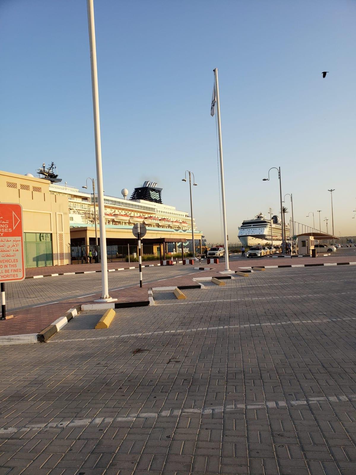 港についてみると広大なところに2つのターミナル。どちらかわかりませんでしたのでスタッフに確認しました。 | ドバイでのプルマントゥール