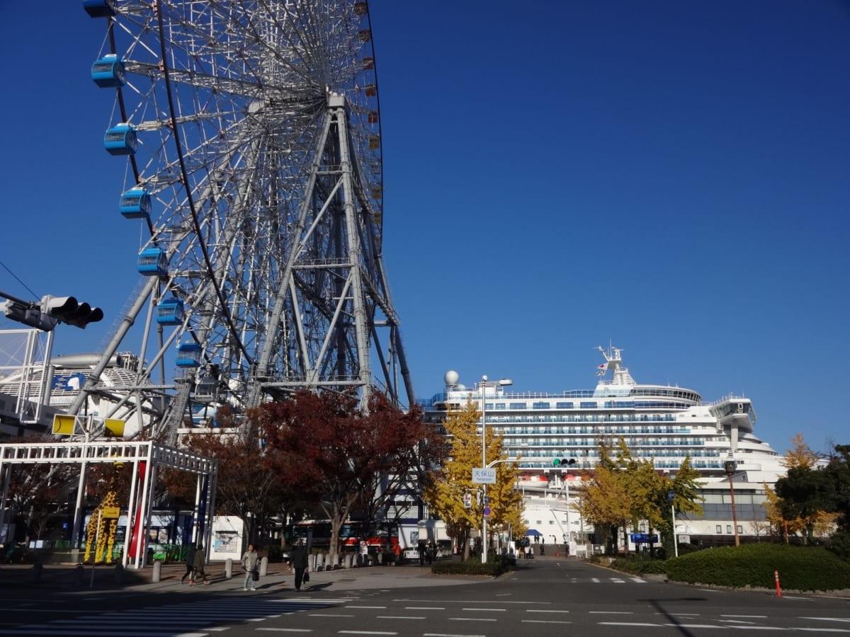 大阪港は地下鉄「大阪港駅」から近いので、便利です。 前回の寄港時はこの駅の周りで水族館やグルメなど十分楽しめたくらいです。 | 大阪での客船ダイヤモンド・プリンセス