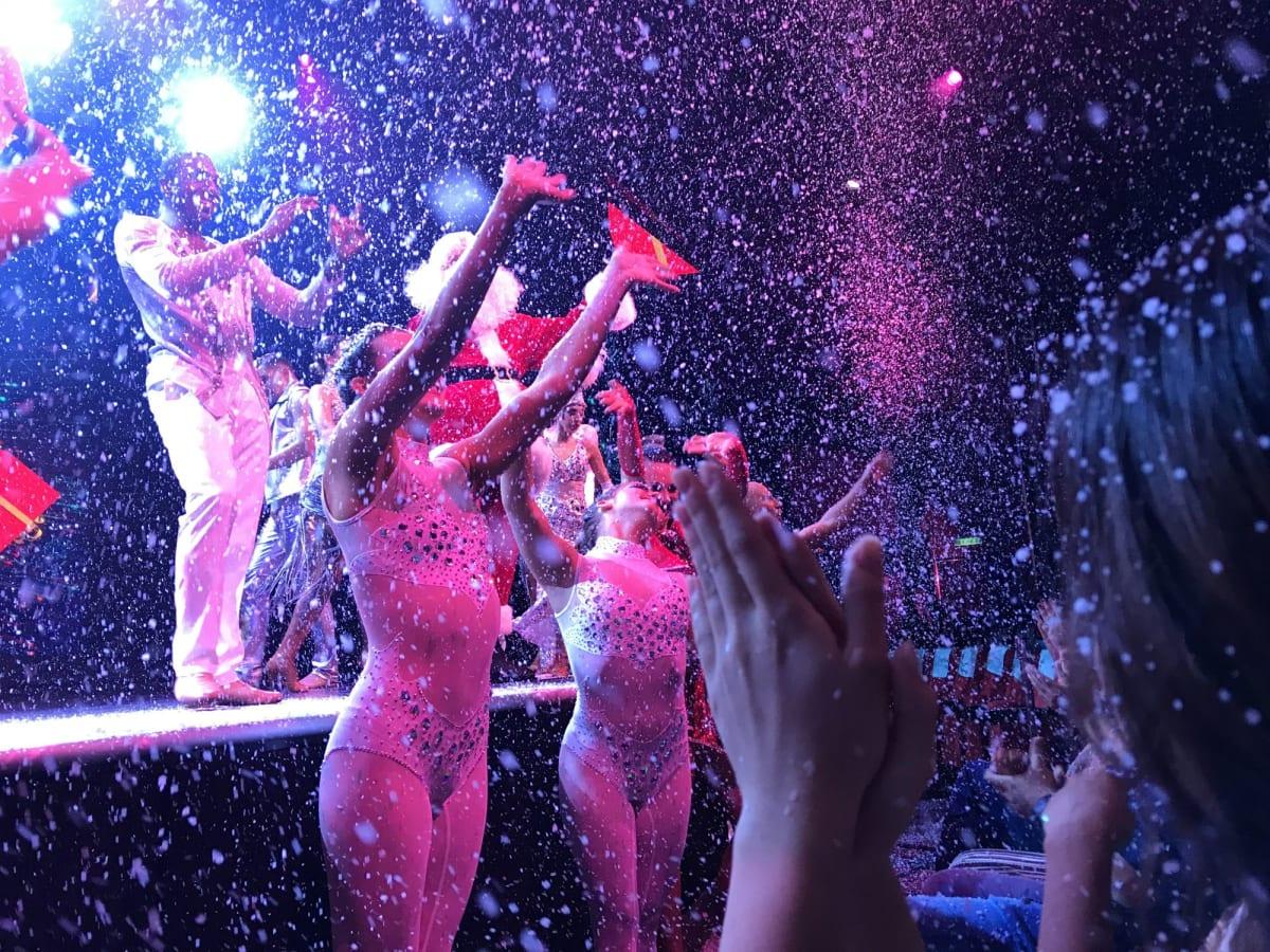 ショーのラストでは雪まで降ってきて驚きの演出でした ゲンティンドリーム のショーレベルは大変高いと思います
