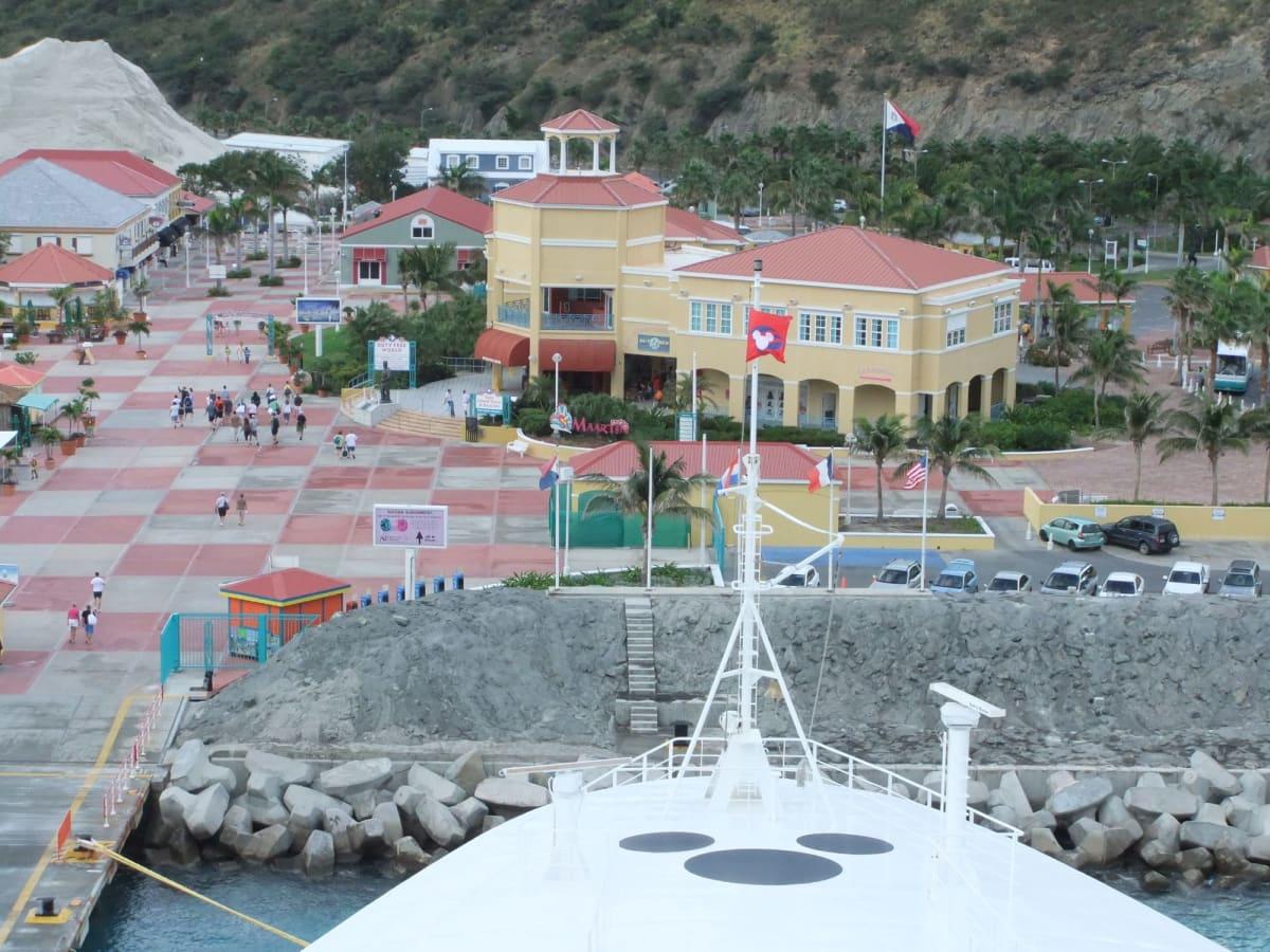「スピード2」でクルーズ船が港に乗り上げて停まったシーン   客船ディズニー・ワンダーの外観