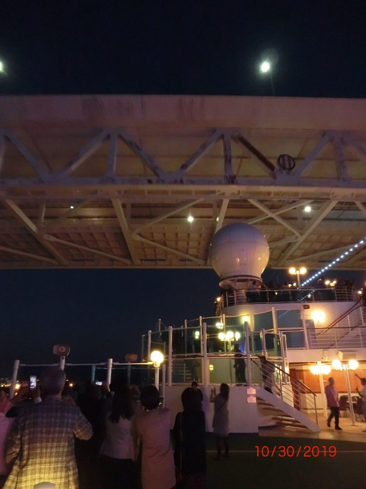 横浜での客船ダイヤモンド・プリンセス