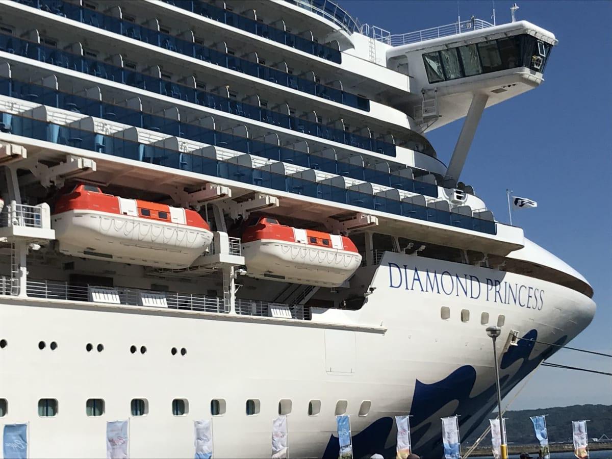 客船ダイヤモンド・プリンセスの外観