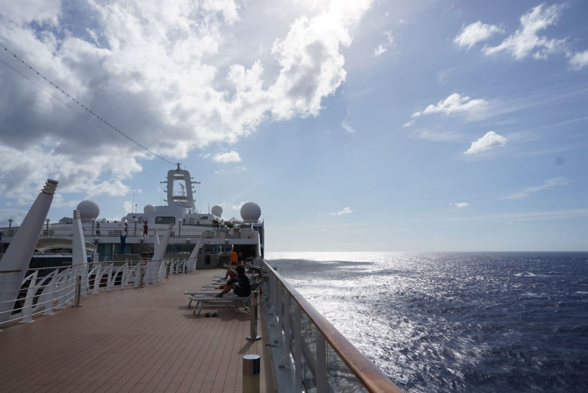 鹿児島~上海は凪。   客船MSCスプレンディダの船内施設