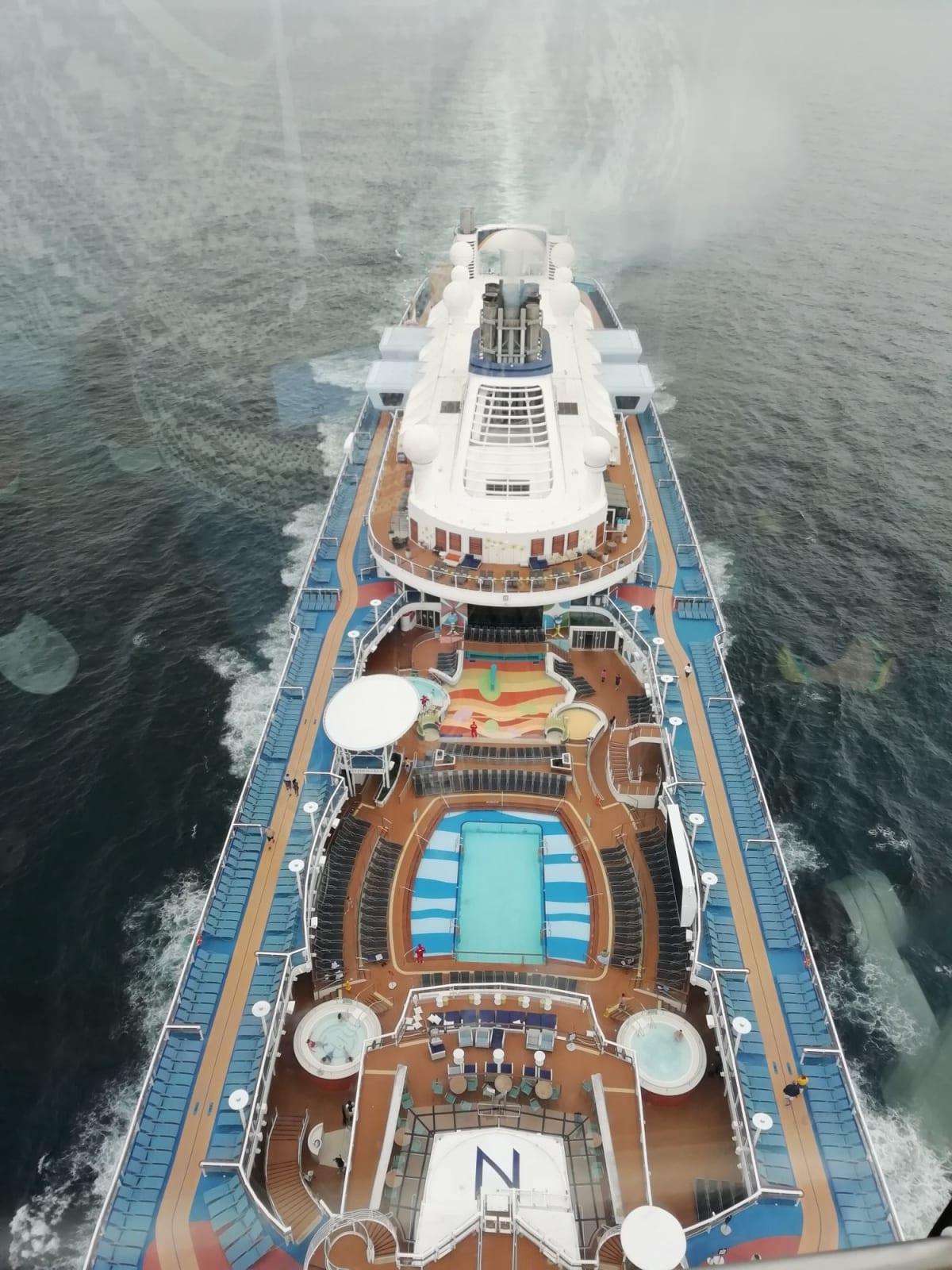 ノーススターからの写真です。 | 客船アンセム・オブ・ザ・シーズの外観
