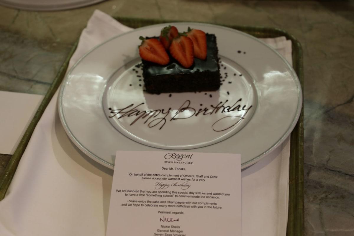 知人のお誕生日もしっかりお祝いしてくださいました。