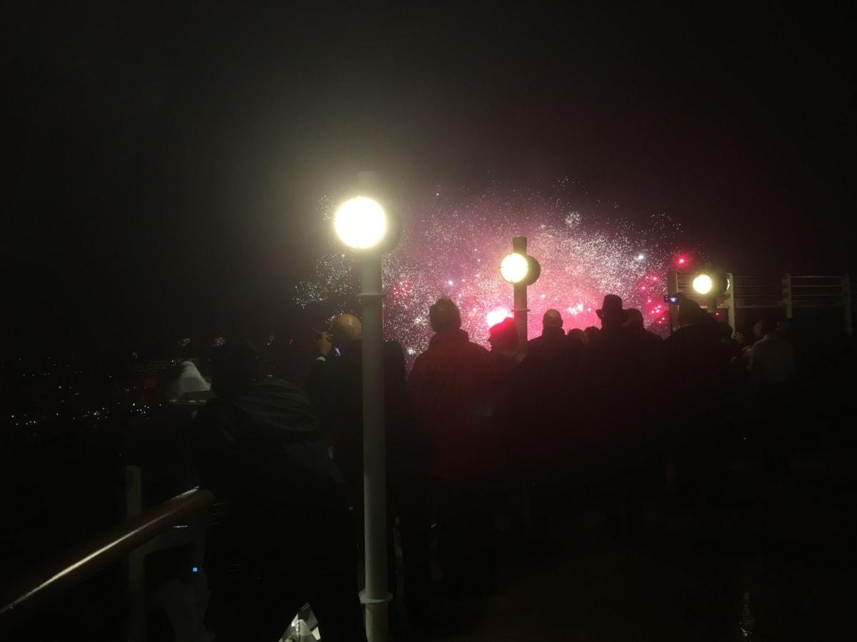 31日 アムステルダムの町中で年越しの花火です。360度花火だらけ圧巻の年越しでした。   アムステルダム