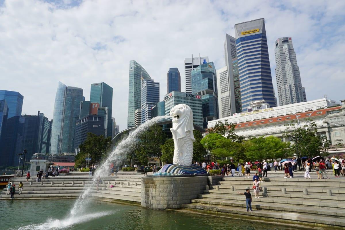 前回は来なかったので今回は立ち寄りマーライオン。 | シンガポール
