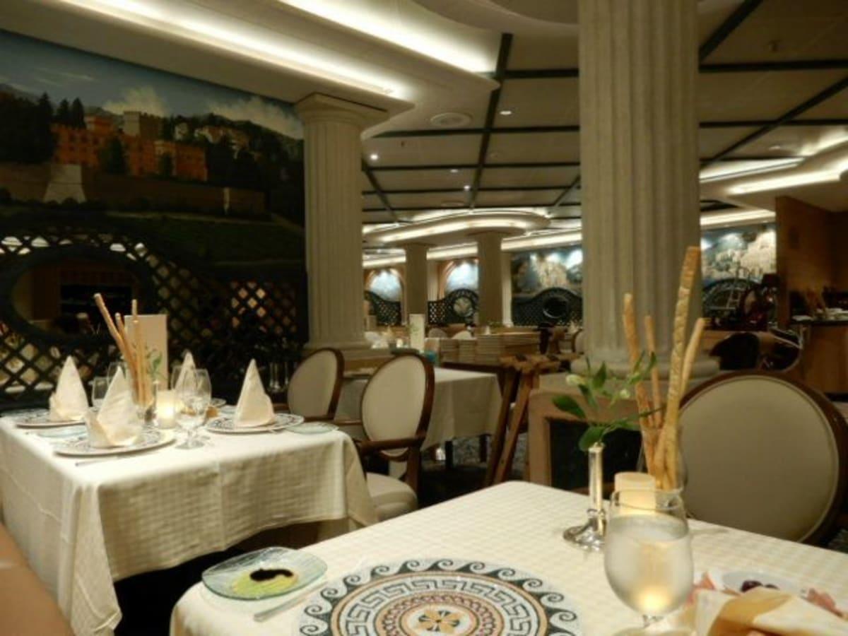 スイート特典で初日のディナー&毎朝食利用出来た「サバティーニ」