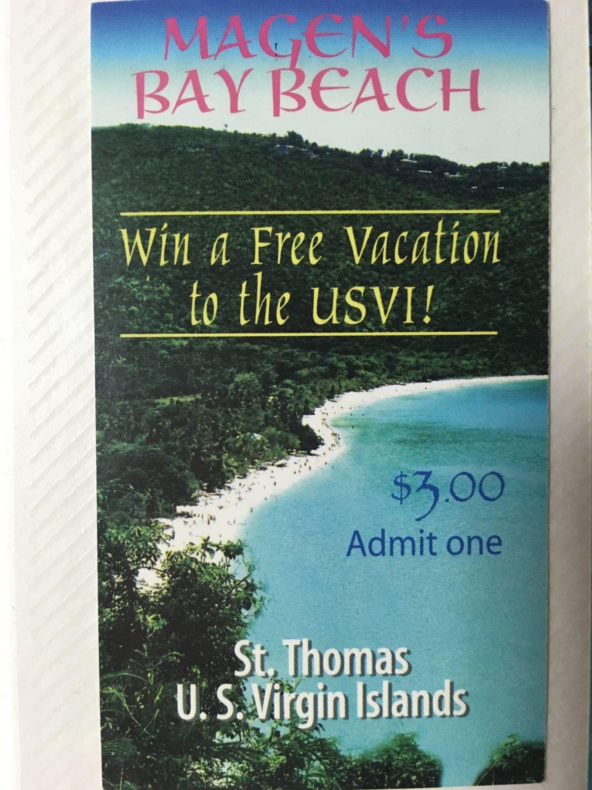 ビーチの入場券 | シャーロット・アマリー(セント・トーマス島)