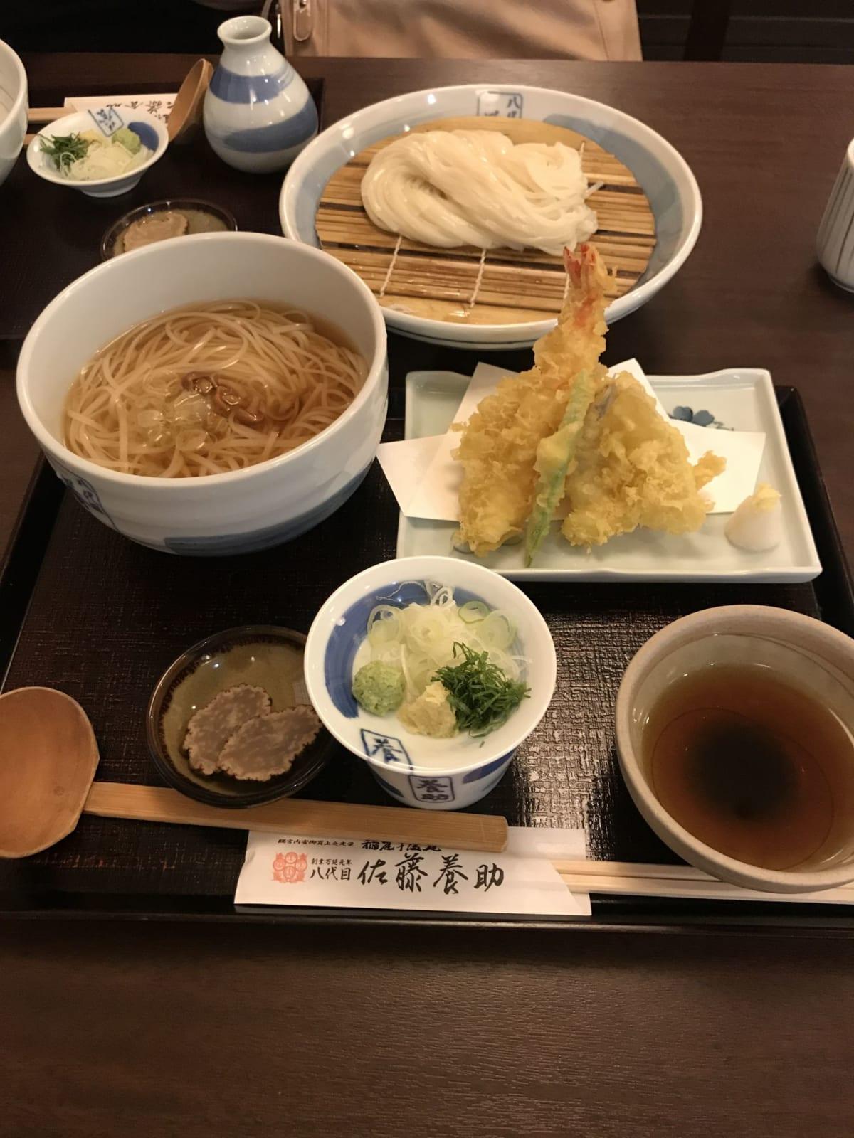 伊藤養助の稲庭うどん、食べ比べセット1800円。