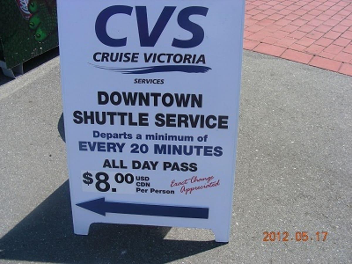 ビクトリアでは、ダウンタウンと結ぶシャトルバスを用意してくれました。こちらは有料です。