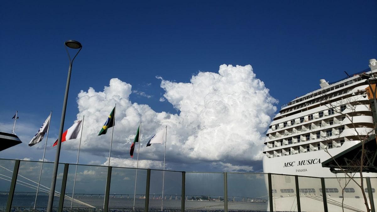 客船MSCムジカの外観