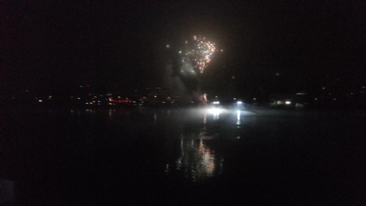 リンツ#ニューイヤーズイブ花火#一晩中市内各地で花火が打ち上げられました! | リンツ