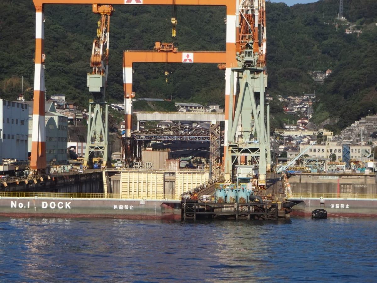 ダイヤモンドプリンセスの故郷。 三菱の長崎造船所。 | 長崎