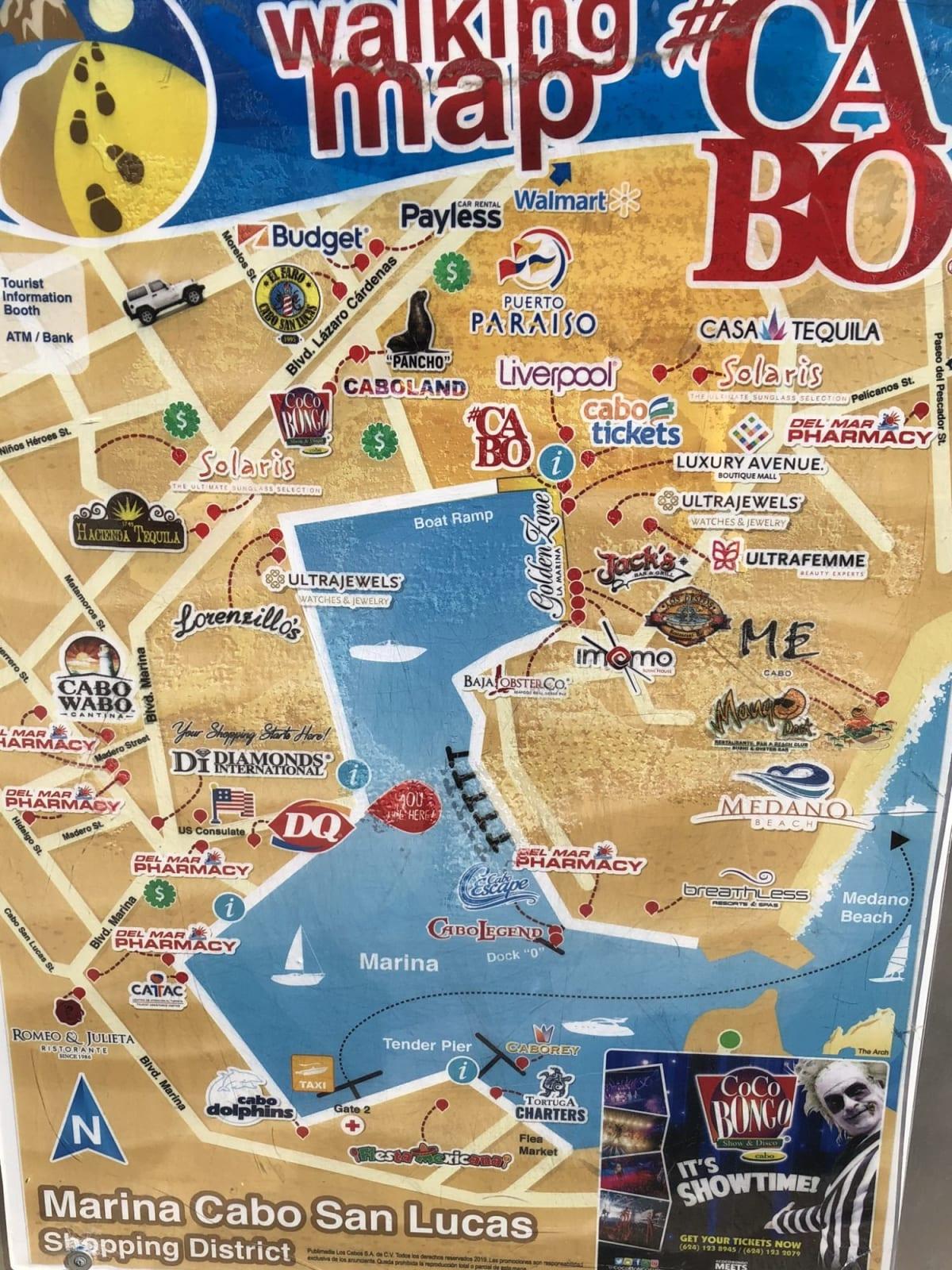 カボサンルーカスの地図 | サンルーカス岬
