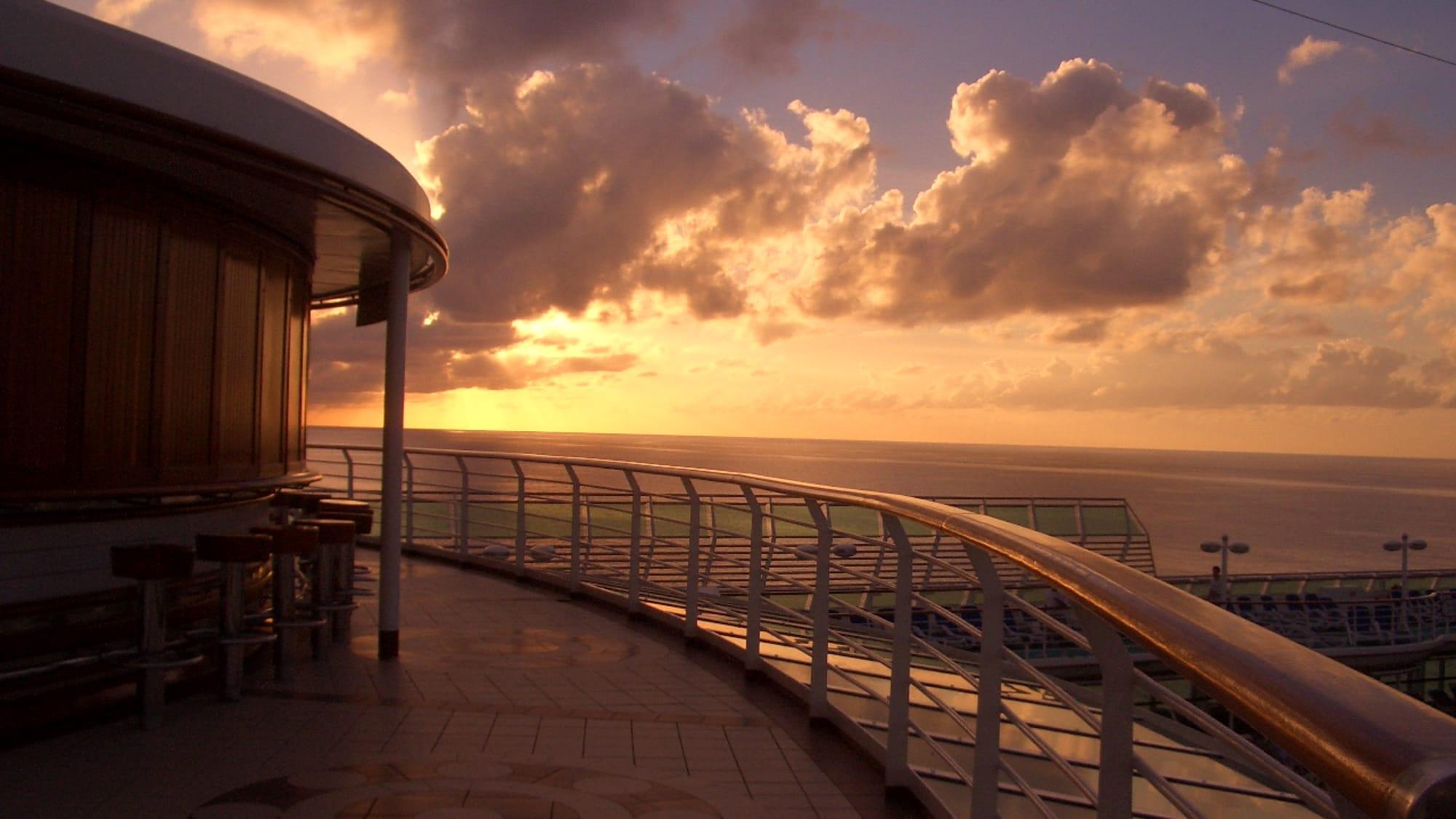 2005年SUN PRINCESSからカリブの夕日