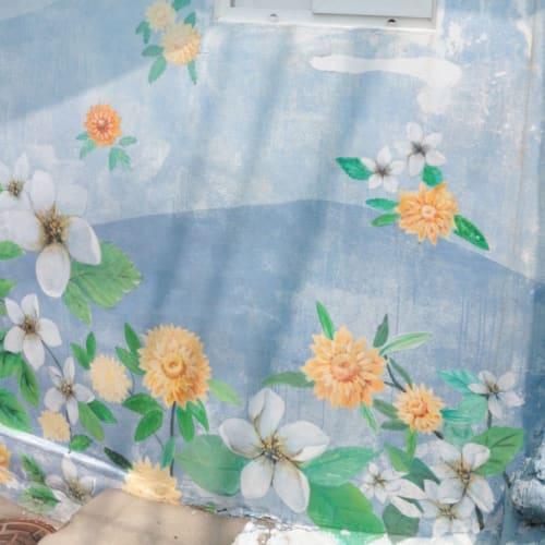 お店の壁に、かわいいペイント   釜山