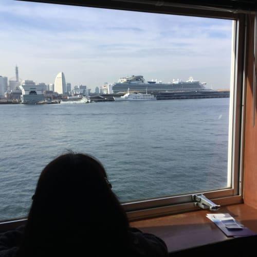 氷川丸からの大桟橋ダイヤモンドプリンセス | 横浜での客船ダイヤモンド・プリンセス