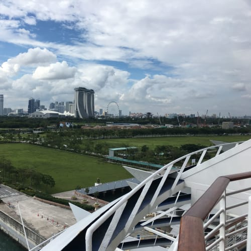 シンガポールでの客船ボイジャー・オブ・ザ・シーズ