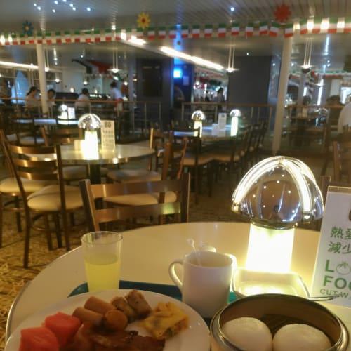 下船日の朝食。中国らしいです。 | 客船スター・パイシスのブッフェ、フード&ドリンク