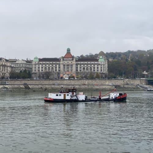 対岸の建物は、温泉施設のあるゲラートホテルです。 | ブダペスト