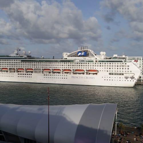 終着のオークランドには、シープリンセスが停まっていた。 | オークランドでの客船シー・プリンセス