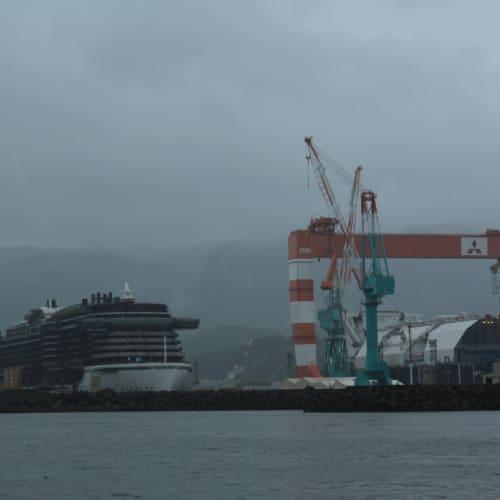 香焼ドックで建造中のAIDA PRIMA | 長崎での客船アイーダ・プリマ