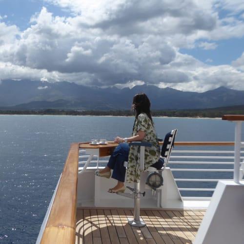 客船シードリーム1の乗客、船内施設