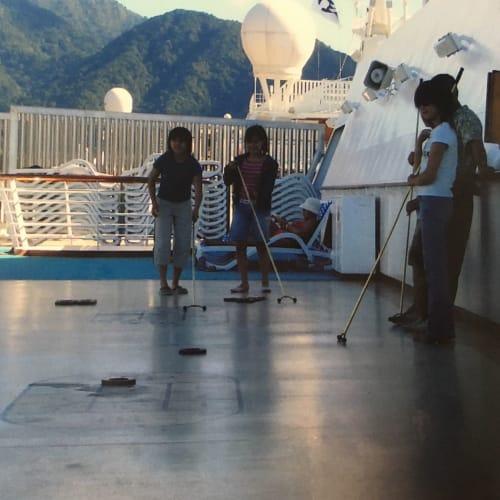 船上ならではの遊び。 | 客船サン・プリンセスの乗客、船内施設