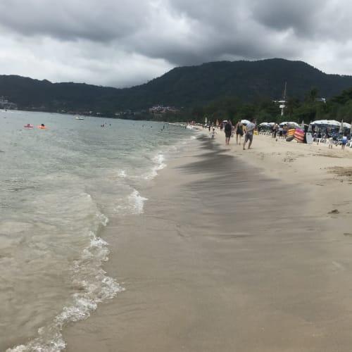 パトンビーチ、、、は天気があまり良くなく、、、   プーケット