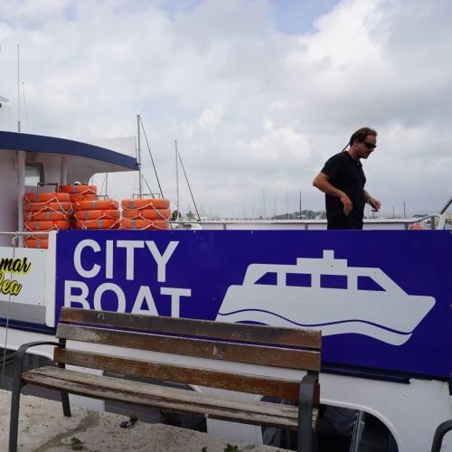 イビサタウンから港へはCiry Boatを利用(2.6ユーロ) | イビサ(イビサ島)