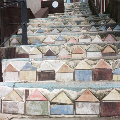 アートな所がたくさん! 階段   釜山